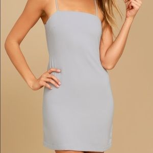 Lulus Toast to Life Grey Mini Dress